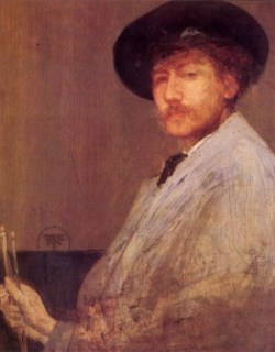 James MacNeill Whistler, also July 19, 1834. The more you look at this portrait, the odder it is