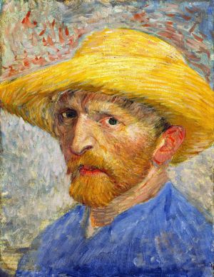 Self-portrait with Straw Hat by Vincent Van Gogh born 30 March 1853