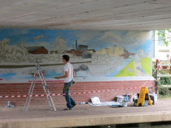 Oxford Canal Mural Painting Days (14)
