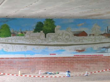 Oxford Canal Mural Painting Days (22)