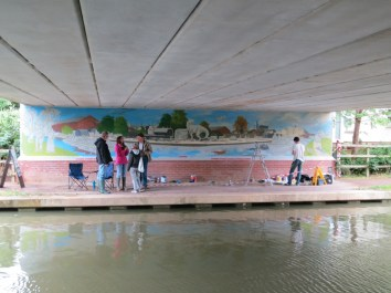 Oxford Canal Mural Painting Days (24)