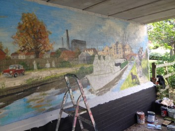 Oxford Canal Mural Painting Days (96)