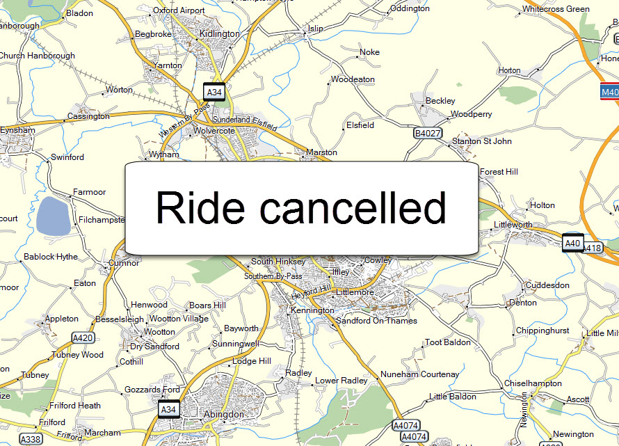 ride cancelled