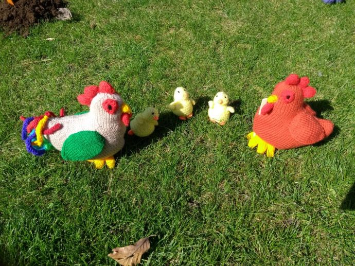 Spring chickens in East Hendred