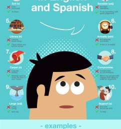 10 False Friends in English and Spanish Infographic   Oxford House  Barcelona [ 1673 x 870 Pixel ]