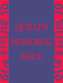 Quillen Memorial Issue cover