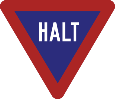 halt sign AA