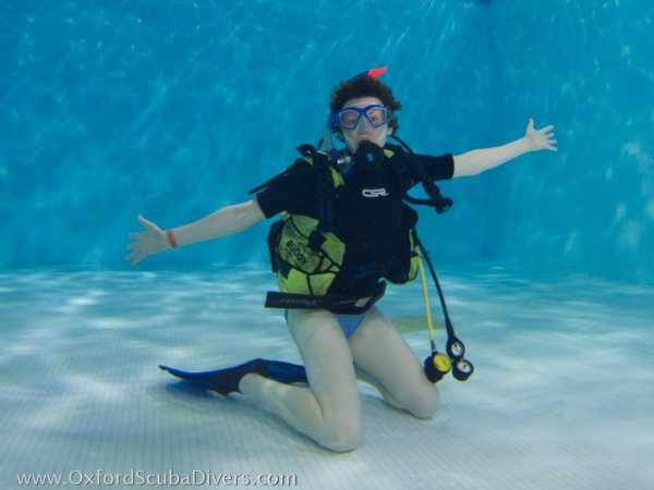 Try diver in the pool