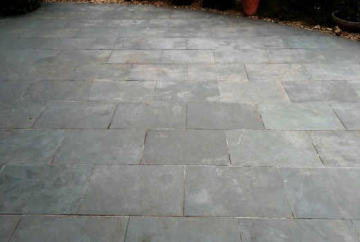 Slate patio Chinnor before cleaning