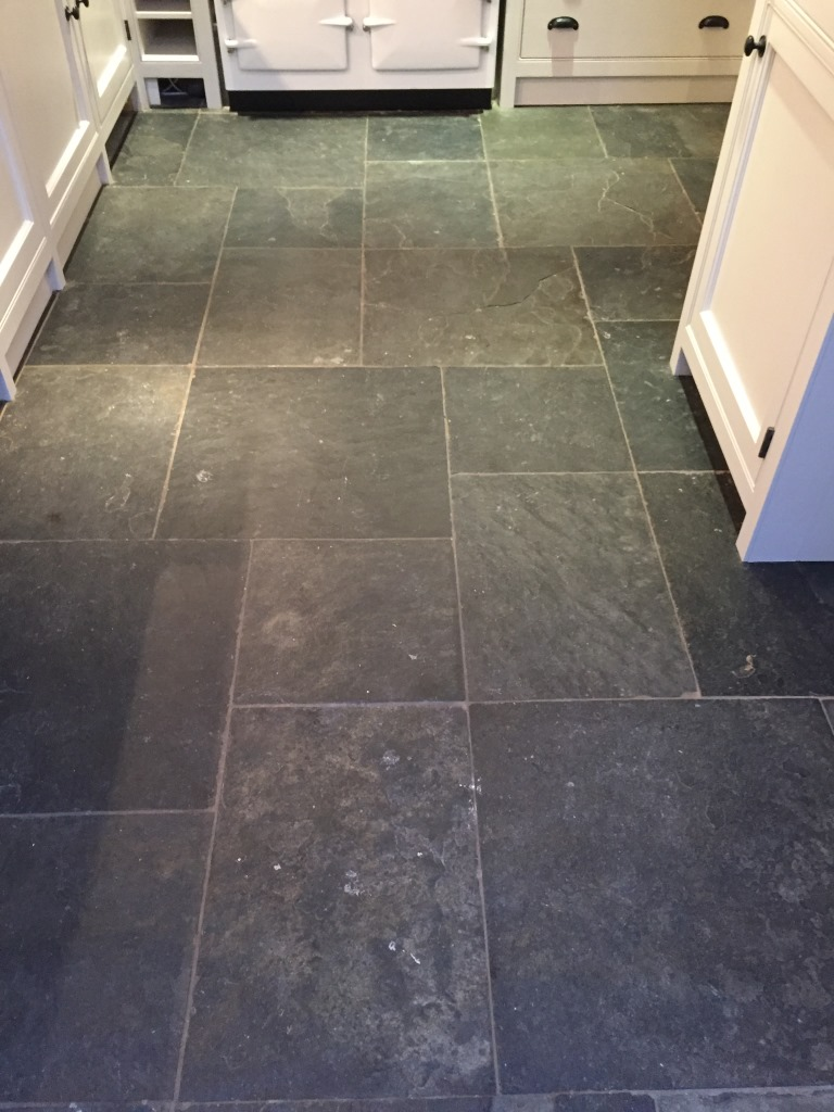 tiled kitchen floors decor yellow henley on thames oxfordshire tile doctor slate floor before cleaning