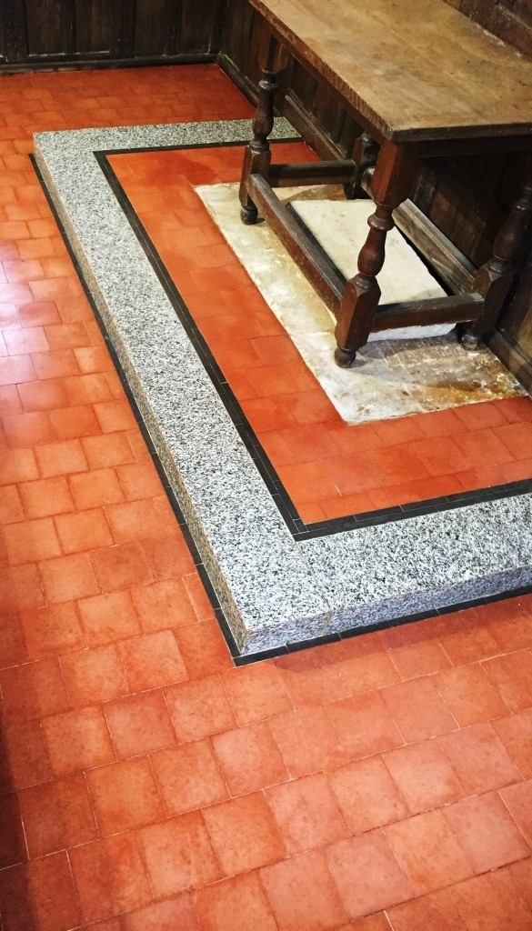 12th Century Church  Marble Tiled Border in Wantage After Renovation