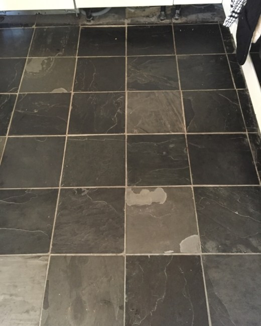 Slate Floor Tiles before refresh Oxford