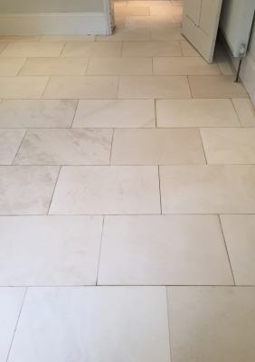 White Limestone Floor Wallingford After Cleaning