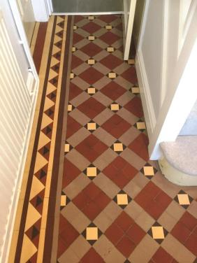 Carpet Covered Victorian Tiled Floor After Cleaning Oxford