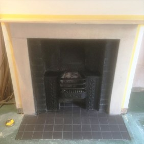 Limestone Fireplace After Cleaning Oxford