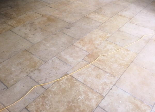 Limestone Tiled Floor Before Cleaning Radcot
