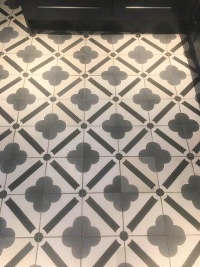 Encaustic Cement Tiles After Cleaning in Chipping Norton