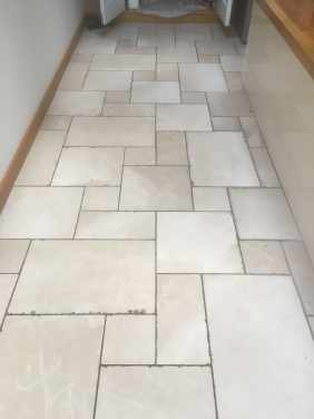 Tumbled Marble Floor Before Cleaning Oxford