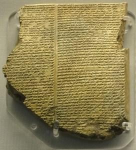 Keilschrift-Tafel des Gilgamesch-Epos