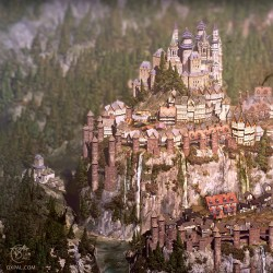 medieval fantasy map castle illustration palace game 3d detailed paintings area complex realistic detail digital oxpal thomas based zoom