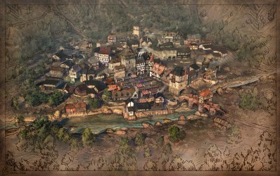 town map medieval fantasy game towns maps village drawing villages cities rpg drawn hand sinful even need paintings oxpal minecraft