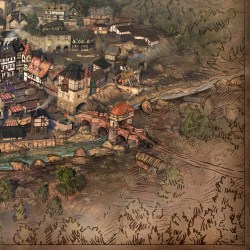 medieval map town game maps concept towns artwork times character oxpal cancelled playing sinful even need