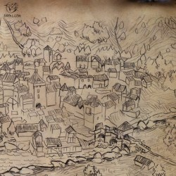 medieval town map hand drawing drawn game pencil schmall thomas oxpal getdrawings