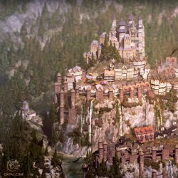 medieval fantasy map castle illustration game palace 3d detailed overview paintings realistic semi oxpal detail thomas worked render setting digital