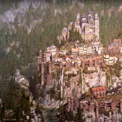 Medieval City Map Illustration Thomas Schmall