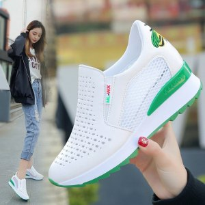 Women's hollow white shoes