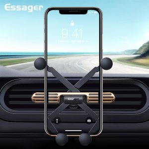 Essager Mini Gravity Car Phone Holder For iPhone Universal Air Vent Mount Holder Clip For Cell Mobile Phone in Car Holder Stand