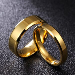4mm 6mm 8mm Bright and Dull Polish Silver Color Titanium Ring For Men and Women Couple Ring