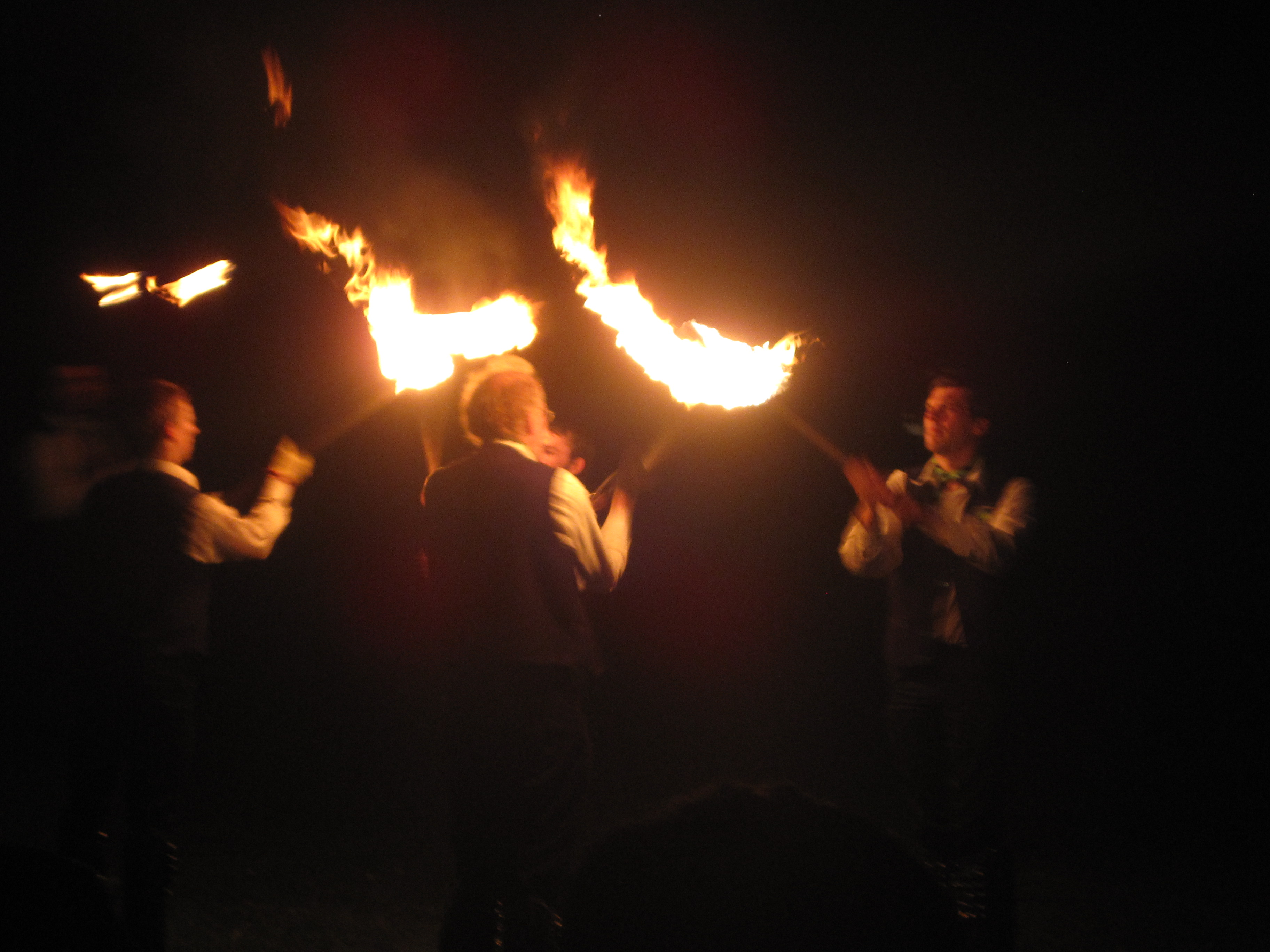 It's manly dancing, because they have fire.