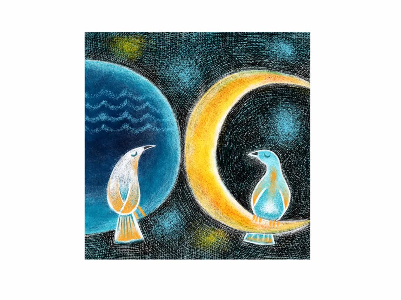 Meeting by moonlight Giclee