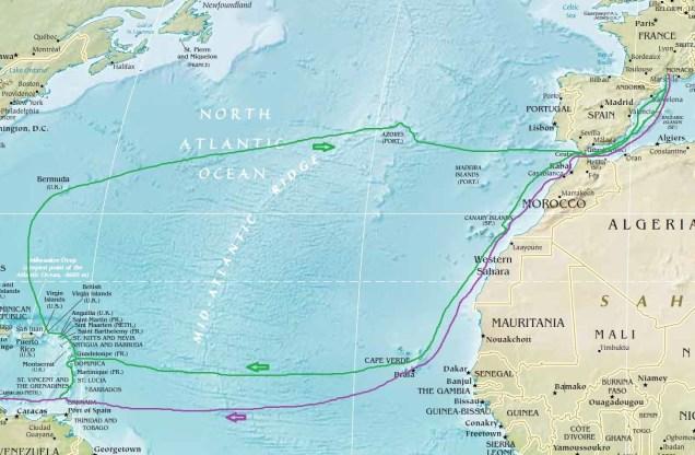 Carte Atlantique active