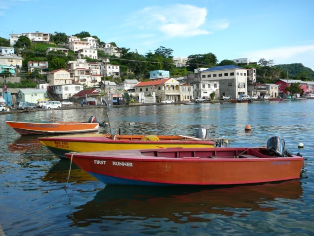 Barques-a-St-Georges-la-capitale-de-Grenade