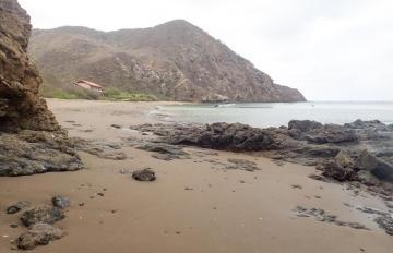 La seule plage de Isla de la Plata