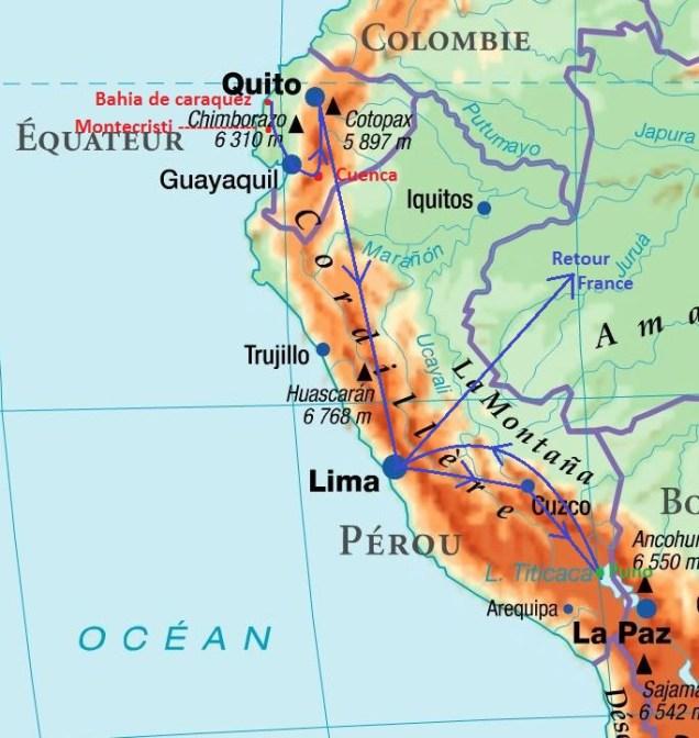 2 trajet Equateur Pérou