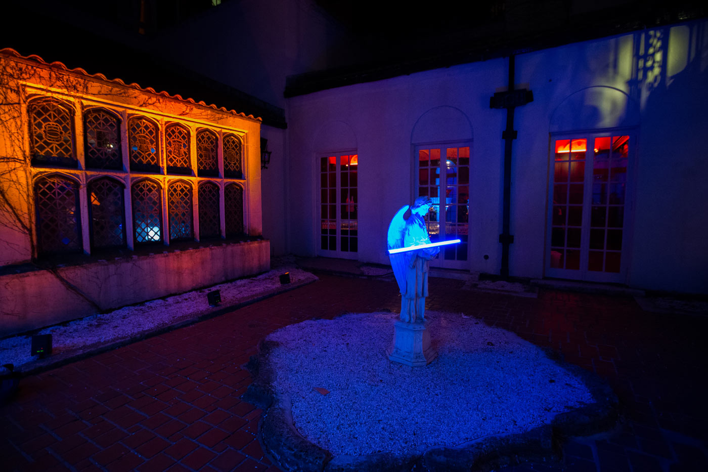 Ambient Lighting for interior courtyard