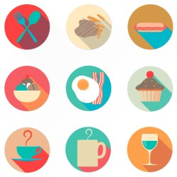 Flat Meal Icon