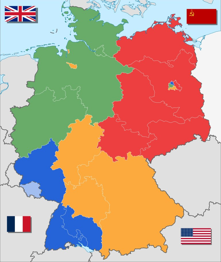 4 Ways To Divide Germany | Maps | Divided Germany, Germany, Berlin Wall intended for Map Of Divided Germany And Berlin