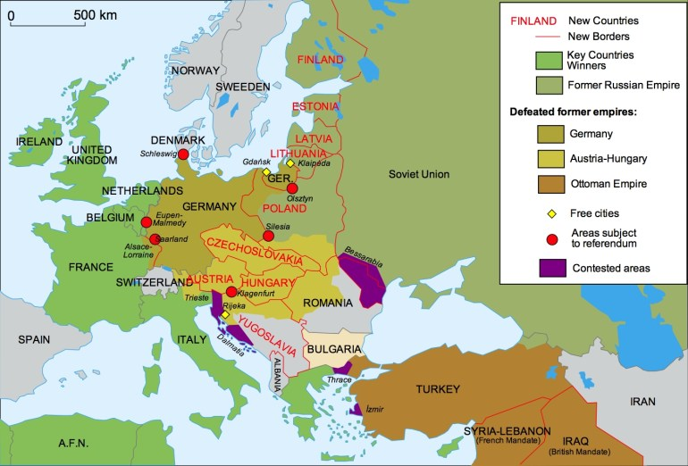 40 Maps That Explain World War I | Vox regarding Map Of Germany After Ww1