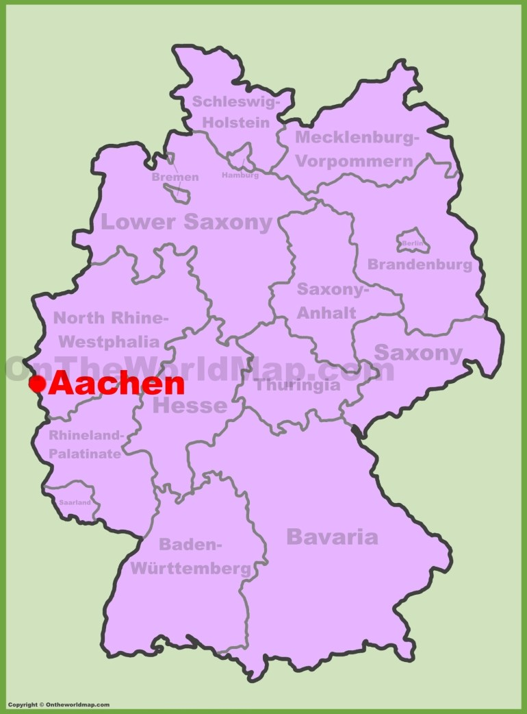 Aachen Location On The Germany Map in Aachen Germany Map