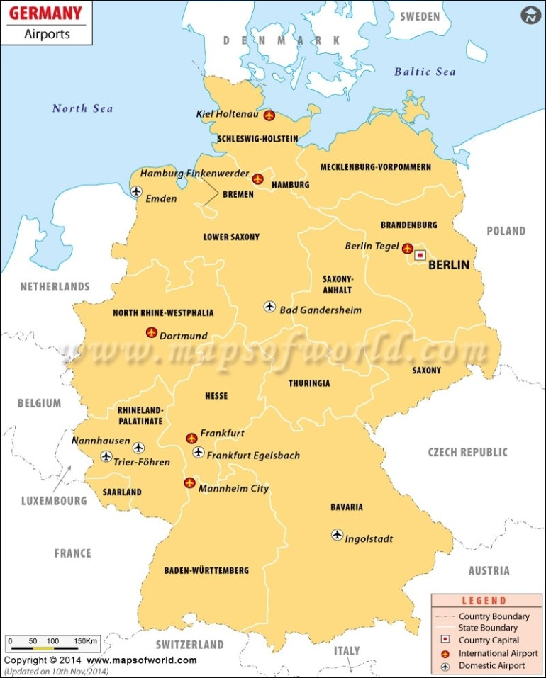 Airports In Germany, Germany Airports Map with regard to Airports In Berlin Germany Map