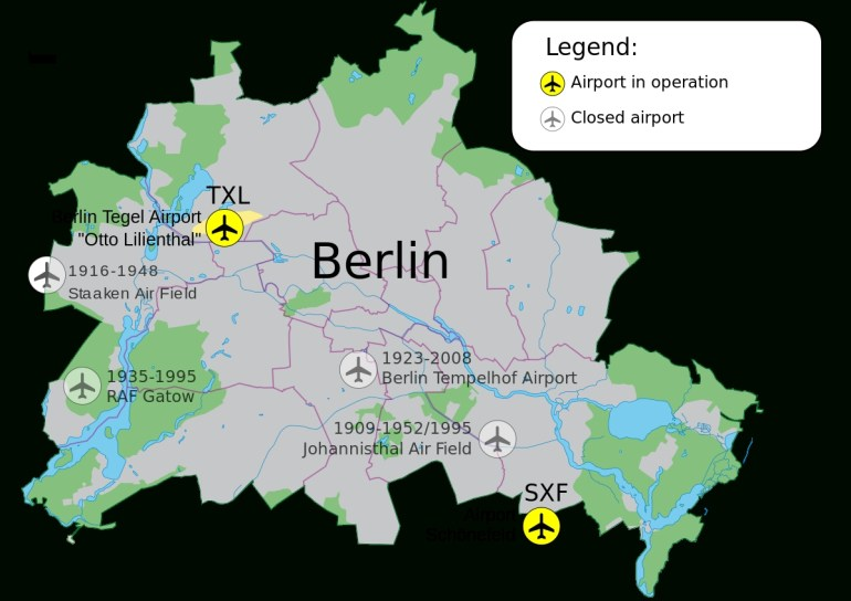 Airports Of Berlin - Wikipedia pertaining to Airports In Berlin Germany Map
