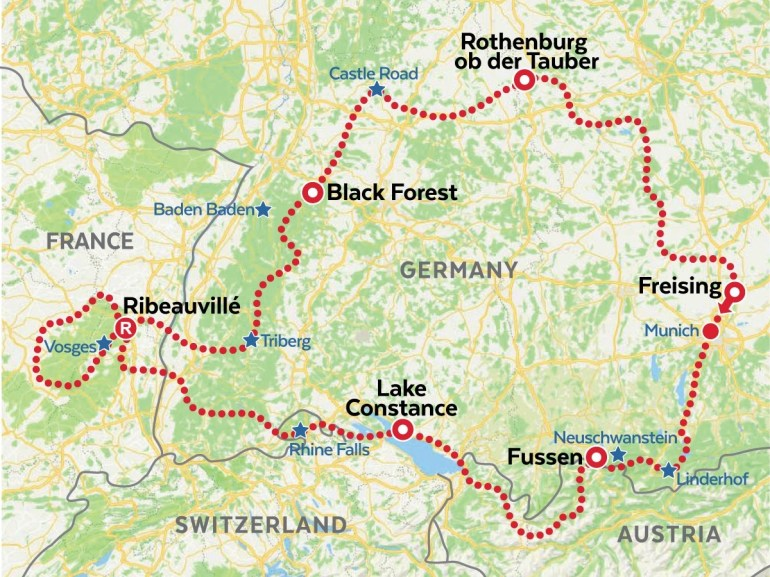 Alsace And The Black Forest Motorcycle Tour | Amt with regard to Black Forest Area Germany Map