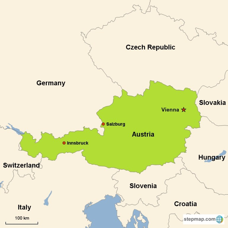 Austria Vacations With Airfare | Trip To Austria From Go-Today inside Map Of Germany Austria Hungary Czech Republic