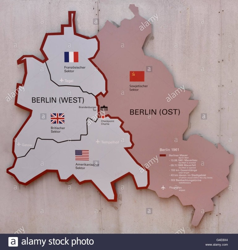 Berlin Germany German City Town Checkpoint Charlie ( Checkpoint C throughout East Germany Berlin Wall Map