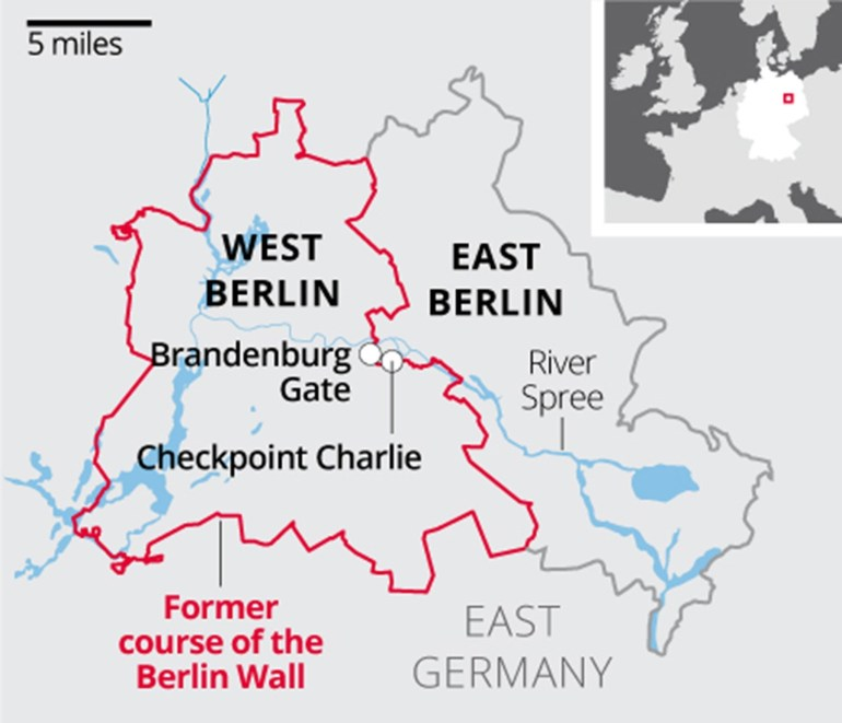 Berlin Wall: What You Need To Know About The Barrier That Divided for Map Of Divided Berlin Germany