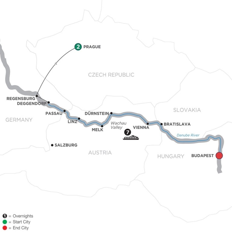 Czech Republic River Cruises - Avalon Waterways® inside Map Of Germany Austria Hungary Czech Republic